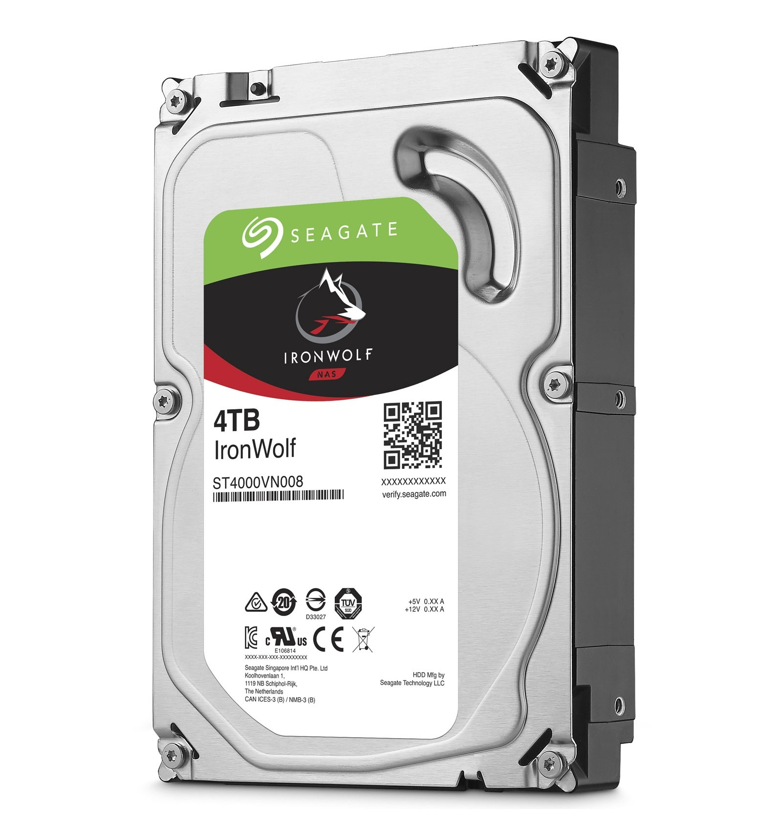 Ổ cứng Seagate IRONWOLF NAS 4TB/5900, Sata 3, 64MB Cache
