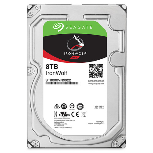 Ổ cứng Seagate IRONWOLF NAS 8TB/7200,Sata3,256MB Cache