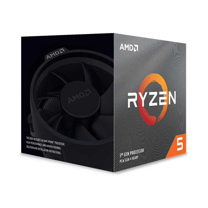 CPU AMD Ryzen 5 3600XT (3.8 GHz turbo upto 4.5GHz / 35MB / 6 Cores, 12 Threads / 95W / Socket AM4)