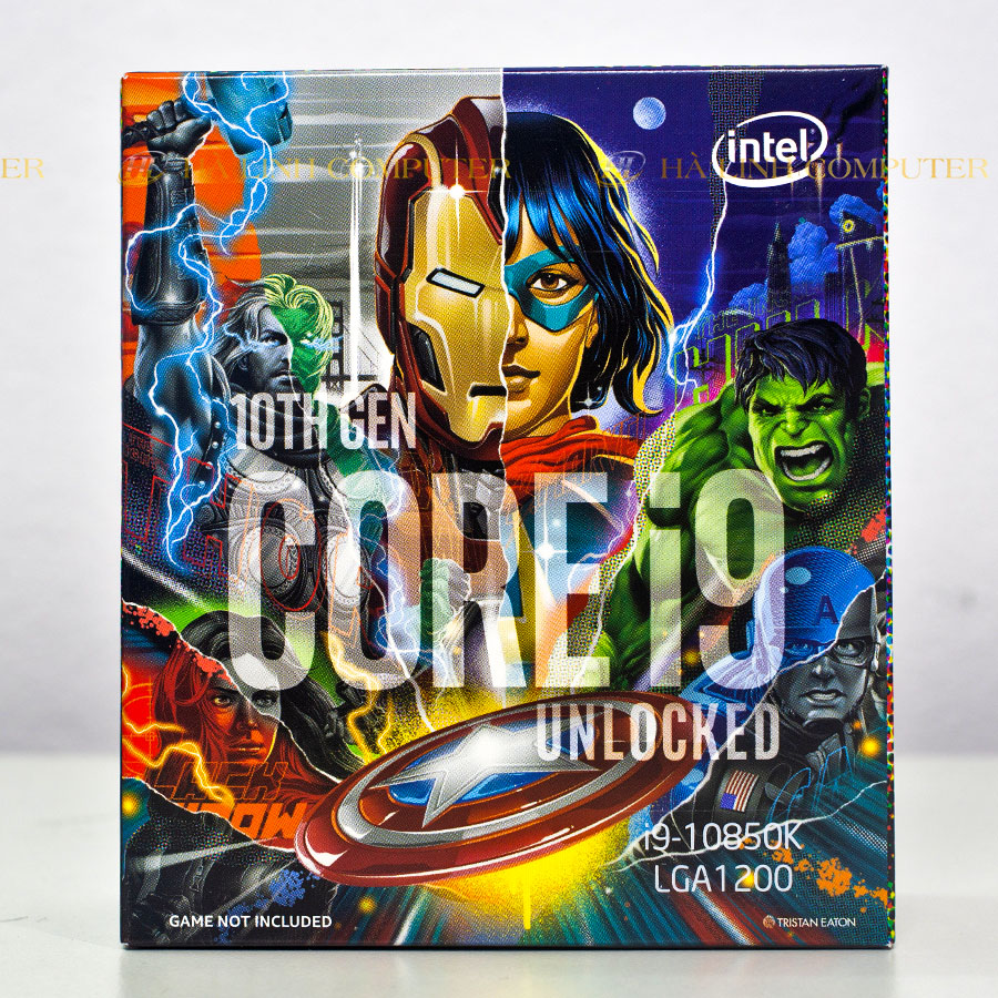 CPU Intel Core i9 10850K Avengers Edition (3.6GHz turbo up to 5.2GHz, 10 nhân 20 luồng, 20MB Cache, 95W)