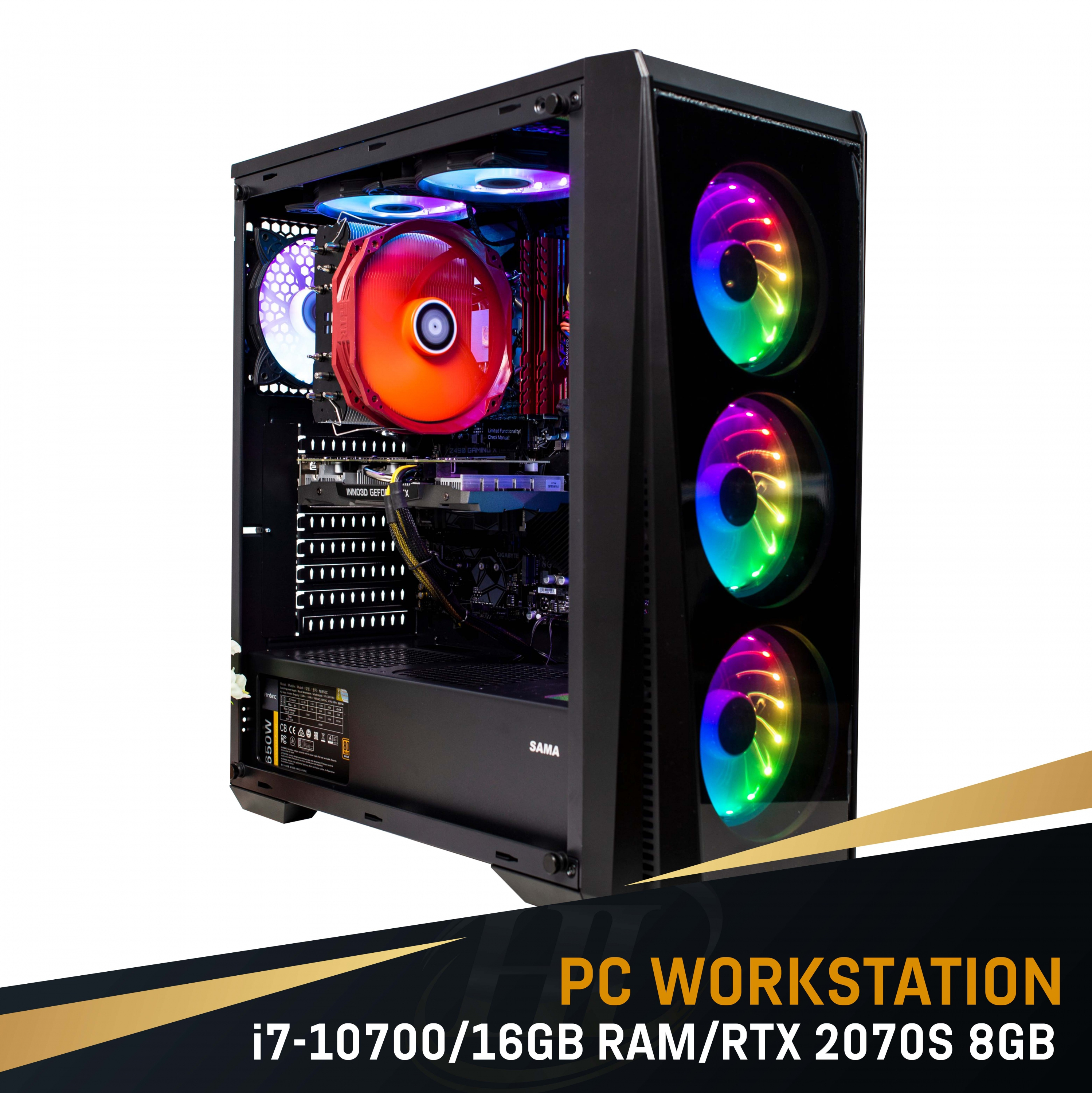 PC Intel i7 10700/16GB Ram / VGA RTX 2070 Super 8GB