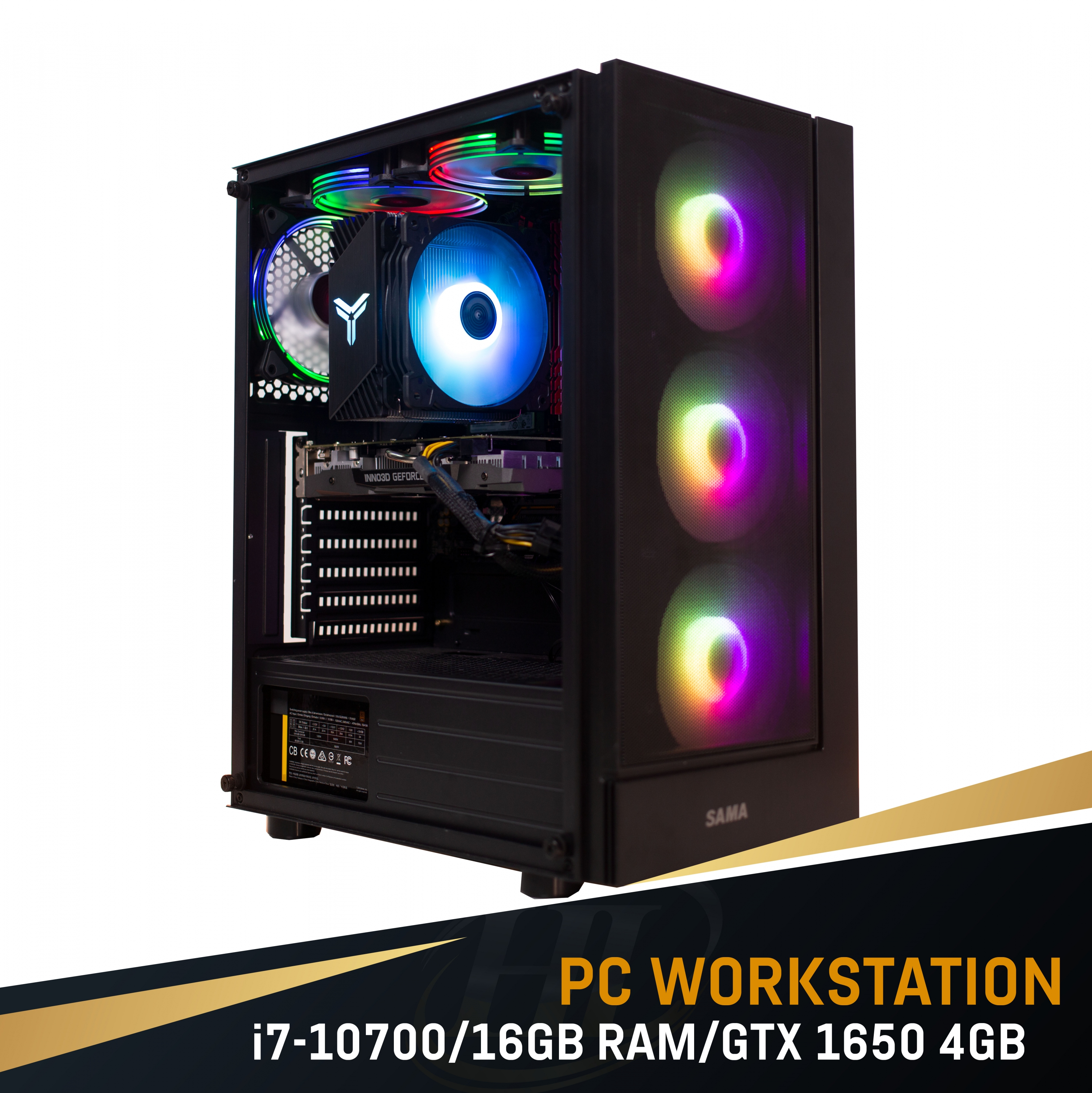 PC Intel i7 10700/ 16GB Ram/ GTX 1650 4GB