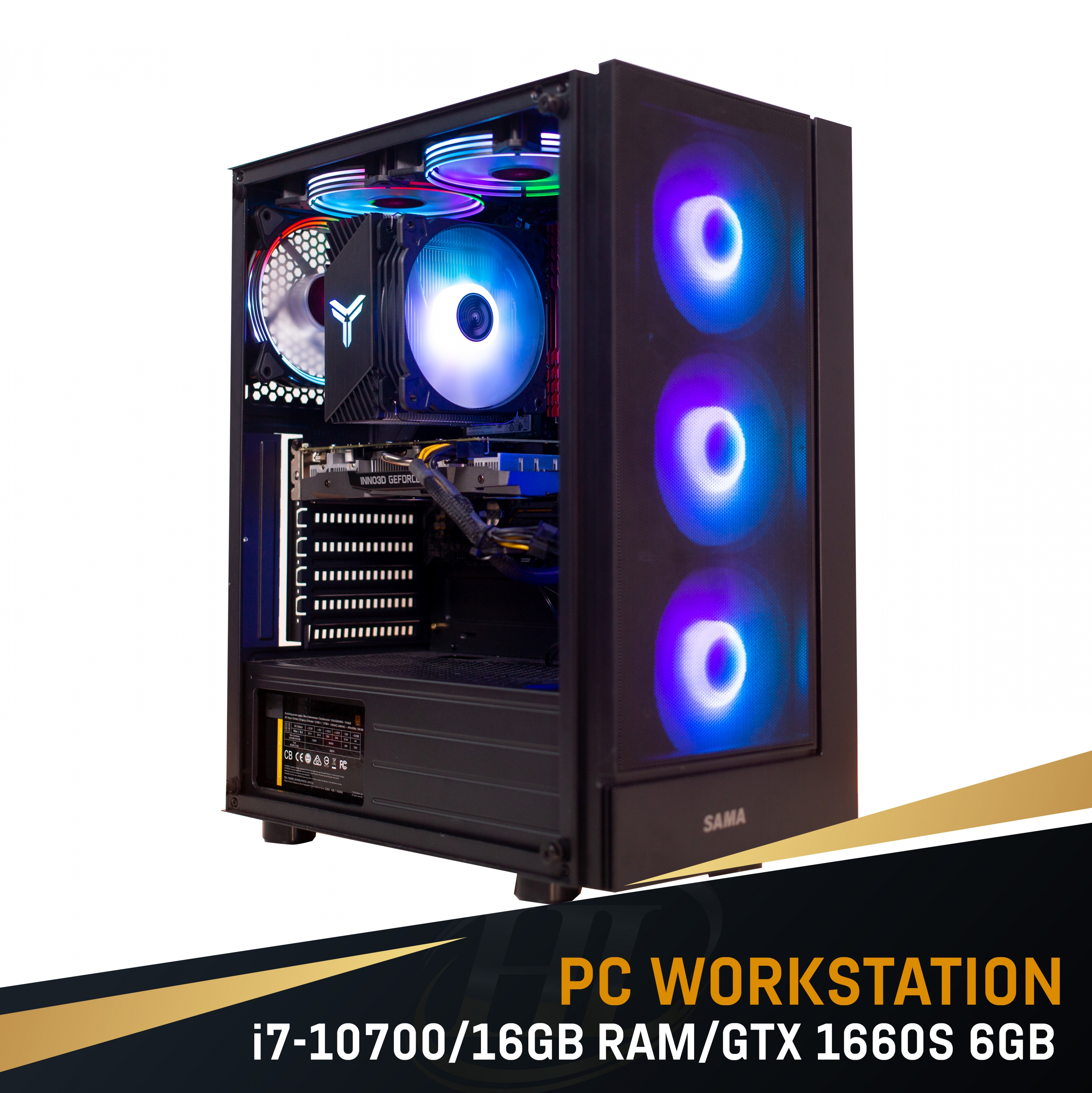 PC Intel i7 10700/ 16GB Ram/ GTX 1660 Super 6GB