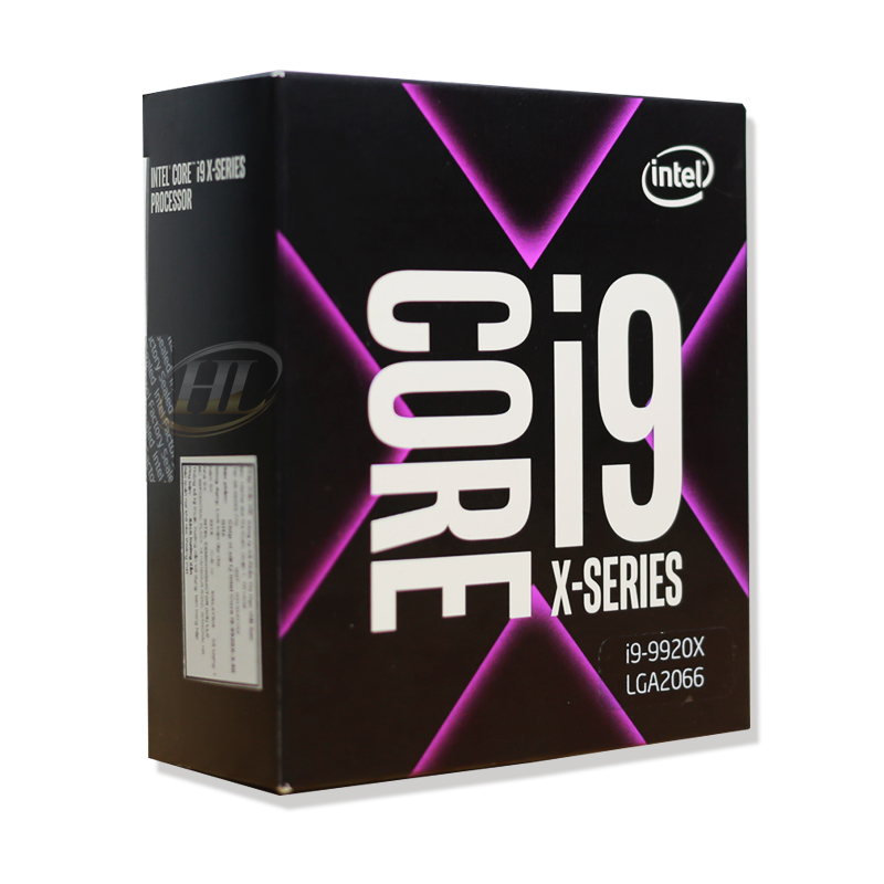 CPU Intel Core i9-9920X 3.5 GHz Turbo 4.4 GHz up to 4.5 GHz / 19.25 MB / 12 Cores, 24 Threads / socket 2066 (No Fan)