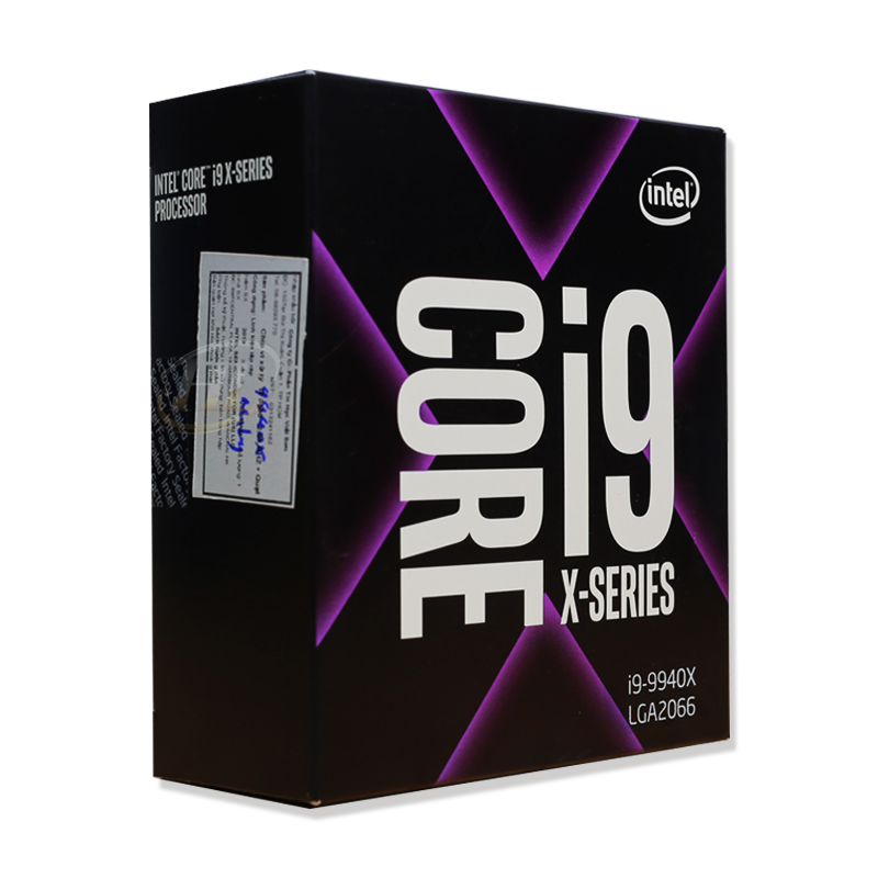 CPU Intel Core i9-9940X 3.3 GHz Turbo 4.4 GHz up to 4.5 GHz / 19.25 MB / 14 Cores, 28 Threads / socket 2066 (No Fan)