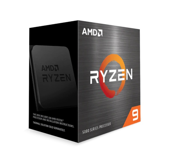 CPU AMD Ryzen 9 5950X (3.4 GHz Upto 4.9GHz / 72MB / 16 Cores, 32 Threads / 105W / Socket AM4)