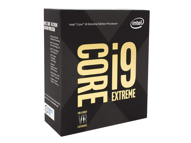 CPU Intel Core i9-9980XE Extreme Edition 3.0 GHz Turbo 4.4 GHz up to 4.5 GHz / 24.75 MB / 18 Cores, 36 Threads / socket 2066 (No Fan)