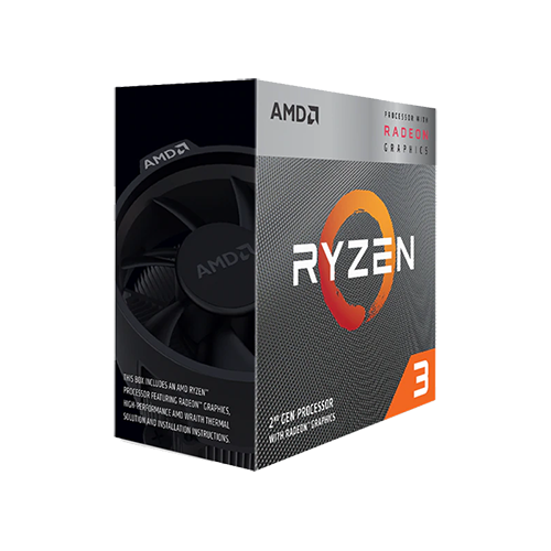 CPU AMD Ryzen 3 3200G 3.6 GHz (4.0 GHz with boost) / 6MB / 4 cores 4 threads / Radeon Vega 8 / 65W/ Socket AM4 )
