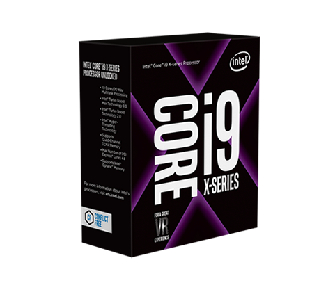 CPU Intel Core i9 7920X 2.9Ghz Turbo 4.3 Up to 4.4Ghz / 16.5MB / 12 Cores, 24 Threads / Socket 2066