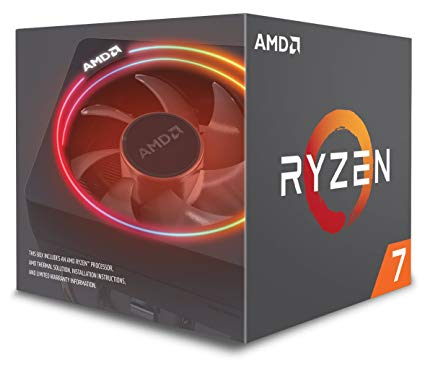 CPU AMD Ryzen 7 2700X 3.7 GHz (4.3 GHz with boost) / 20MB / 8 cores 16 threads / socket AM4