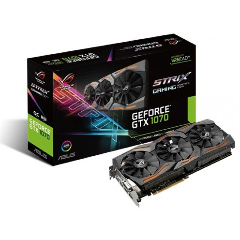 VGA ASUS GeForce GTX 1070 8GB GDDR5 ROG Strix